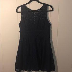 Dresses & Skirts - Navy blue lace dress